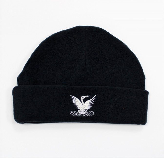 NAVY FLEECE WINTER HAT JNR SMALL