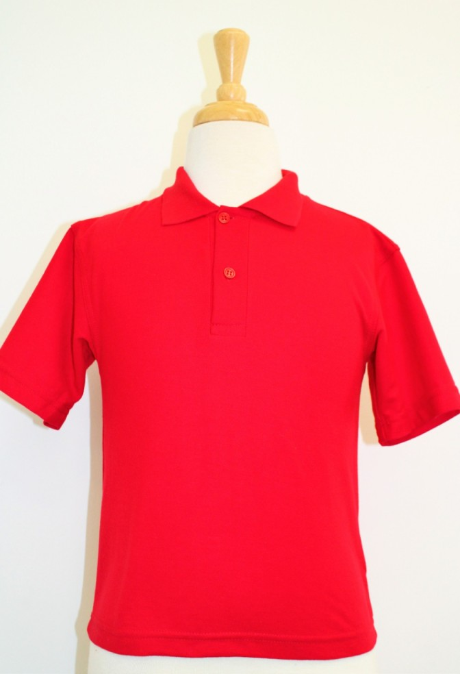 SJS RED POLO SHORT SLEEVE AGE 9-10