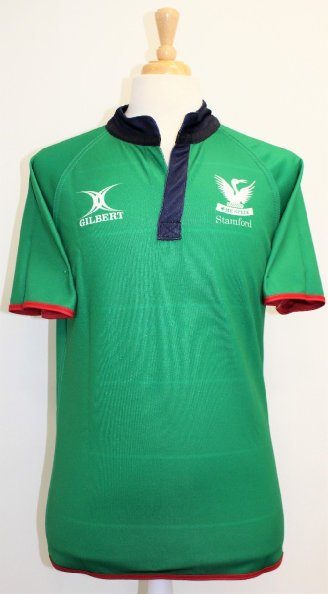 RUGBY SHIRT REVERSIBLE GREEN / STRIPE XS