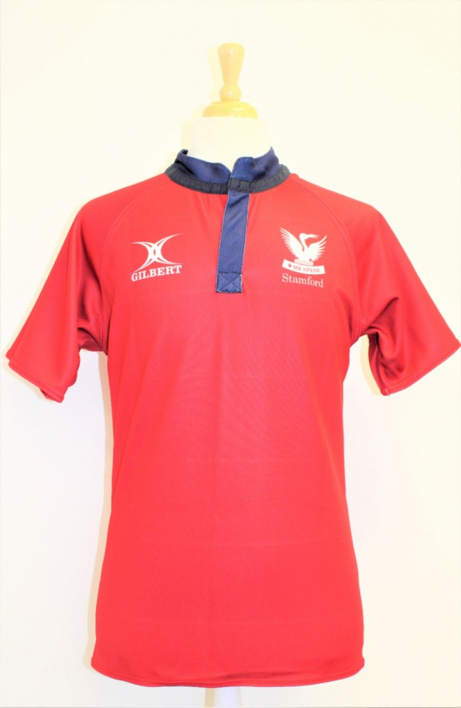 RUGBY SHIRT REVERSIBLE RED / STRIPE 7-8