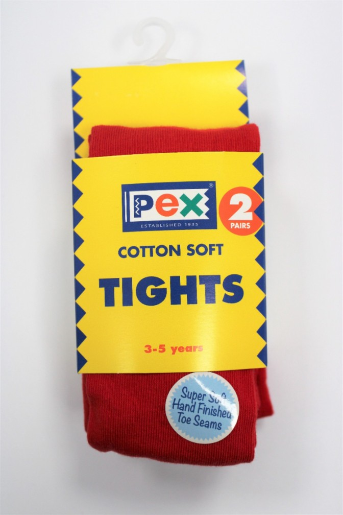 SOCKS / TIGHTS RED 3-5 YRS