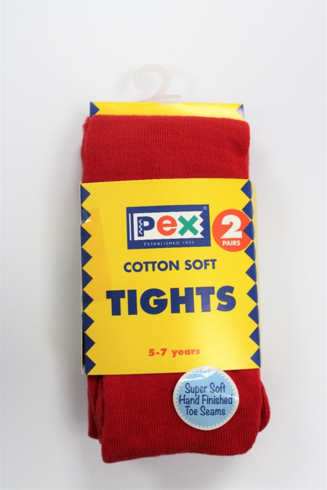 SOCKS / TIGHTS RED AGE 7-9